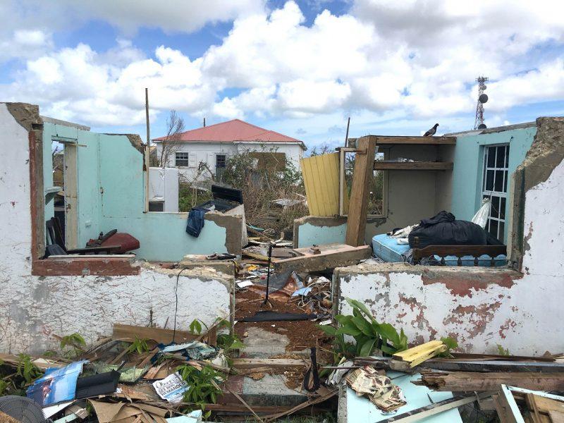 Zerstörung auf Barbuda durch Hurrikan Irma