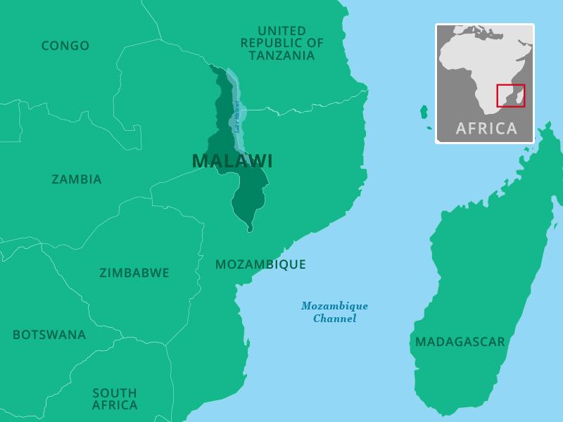 Karte südliches Afrika