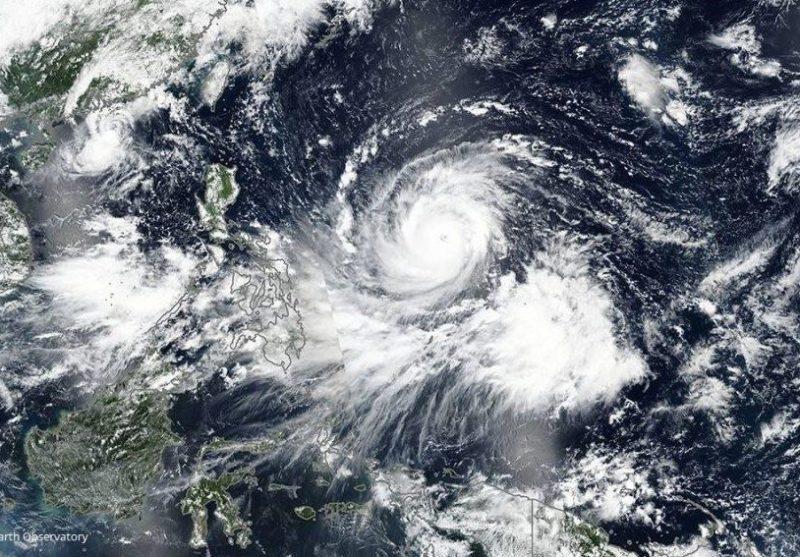 Hurrikan Satelitenbild vom NASA Earth Observatory