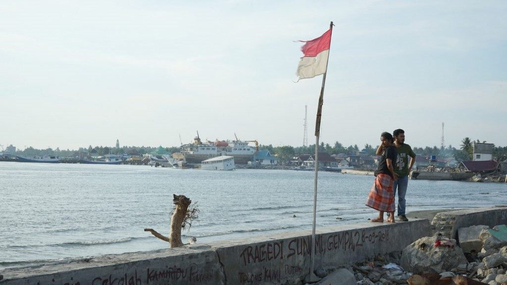 Küste Indonesien nach dem Tsunami in 2018