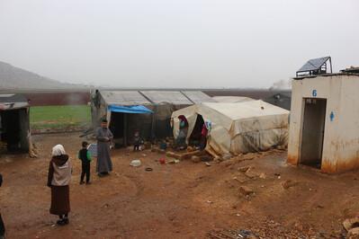 Notunterkünfte in Syrien