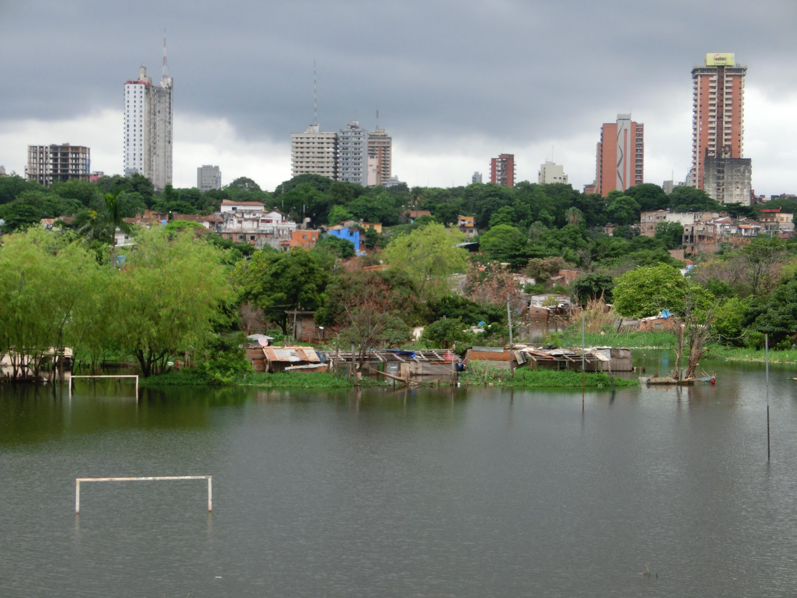 Überschwemmungen nach der Flutkatastrophe 2016 in Paraguay